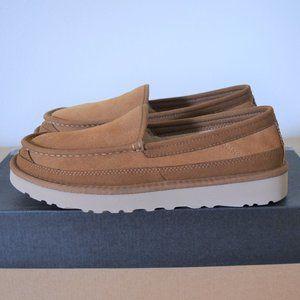 UGG Men's Brown Dex Suede Slippers Size 9